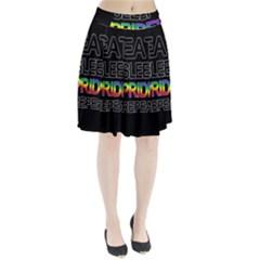 Eat sleep pride repeat Pleated Skirt