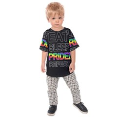 Eat sleep pride repeat Kids  Raglan Tee