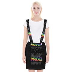 Eat sleep pride repeat Suspender Skirt
