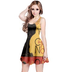 Black cat Reversible Sleeveless Dress