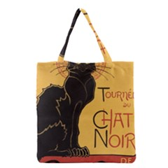 Black cat Grocery Tote Bag