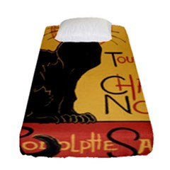 Black cat Fitted Sheet (Single Size)