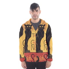 Black cat Hooded Wind Breaker (Men)