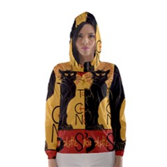 Black cat Hooded Wind Breaker (Women)