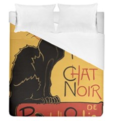 Black cat Duvet Cover (Queen Size)