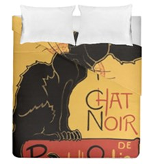 Black cat Duvet Cover Double Side (Queen Size)