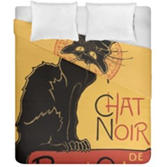 Black cat Duvet Cover Double Side (California King Size)