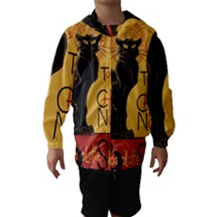 Black cat Hooded Wind Breaker (Kids)