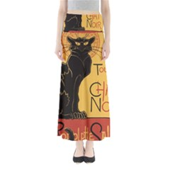 Black cat Maxi Skirts