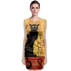 Black cat Classic Sleeveless Midi Dress