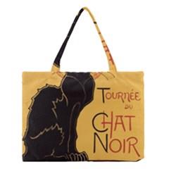 Black cat Medium Tote Bag