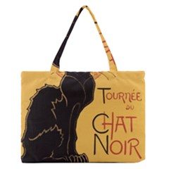 Black cat Medium Zipper Tote Bag