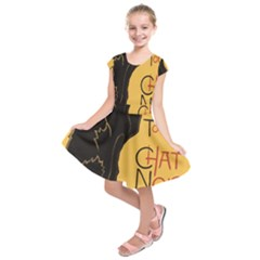 Black cat Kids  Short Sleeve Dress