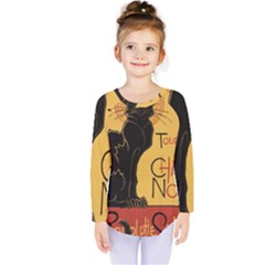 Black cat Kids  Long Sleeve Tee