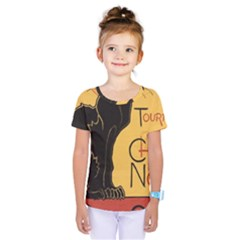 Black cat Kids  One Piece Tee