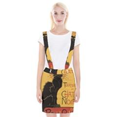 Black cat Suspender Skirt