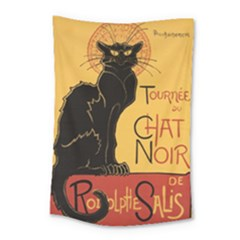 Black cat Small Tapestry