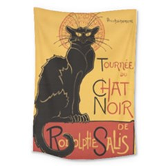 Black cat Large Tapestry