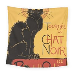 Black cat Square Tapestry (Large)