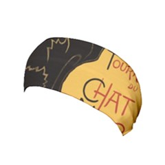 Black cat Yoga Headband