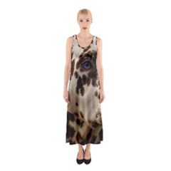 Dalmatian Liver Sleeveless Maxi Dress