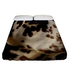 Dalmatian Liver Fitted Sheet (Queen Size)