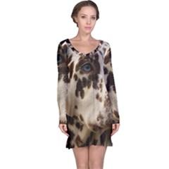 Dalmatian Liver Long Sleeve Nightdress