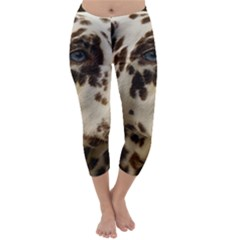 Dalmatian Liver Capri Winter Leggings