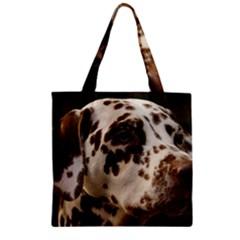 Dalmatian Liver Zipper Grocery Tote Bag