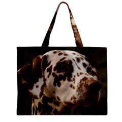 Dalmatian Liver Zipper Mini Tote Bag