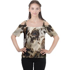 Dalmatian Liver Women s Cutout Shoulder Tee
