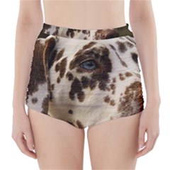 Dalmatian Liver High-Waisted Bikini Bottoms