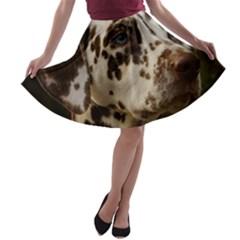 Dalmatian Liver A-line Skater Skirt