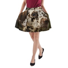 Dalmatian Liver A-Line Pocket Skirt