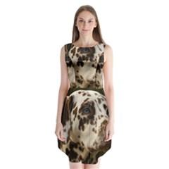Dalmatian Liver Sleeveless Chiffon Dress
