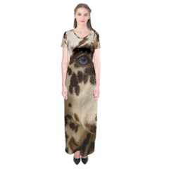 Dalmatian Liver Short Sleeve Maxi Dress