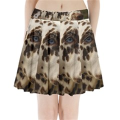 Dalmatian Liver Pleated Mini Skirt