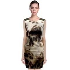 Dalmatian Liver Sleeveless Velvet Midi Dress