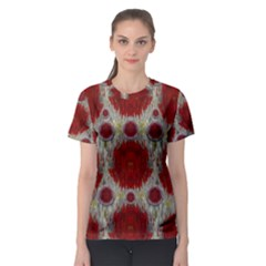 Paint On Water Falls,in Peace And Calm Women s Sport Mesh Tee