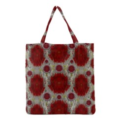 Paint On Water Falls,in Peace And Calm Grocery Tote Bag