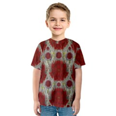 Paint On Water Falls,in Peace And Calm Kids  Sport Mesh Tee