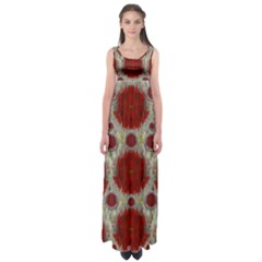Paint On Water Falls,in Peace And Calm Empire Waist Maxi Dress
