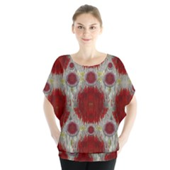 Paint On Water Falls,in Peace And Calm Blouse