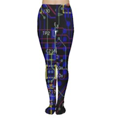 Technology Circuit Board Layout Women s Tights