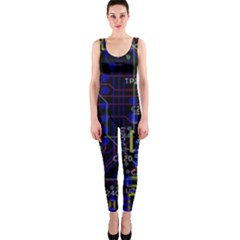 Technology Circuit Board Layout OnePiece Catsuit