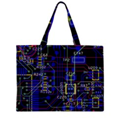 Technology Circuit Board Layout Large Tote Bag