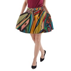 Vivid Colours A-Line Pocket Skirt