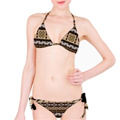 Lion African Vector Pattern Bikini Set