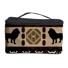 Lion African Vector Pattern Cosmetic Storage Case