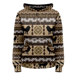 Lion African Vector Pattern Women s Pullover Hoodie